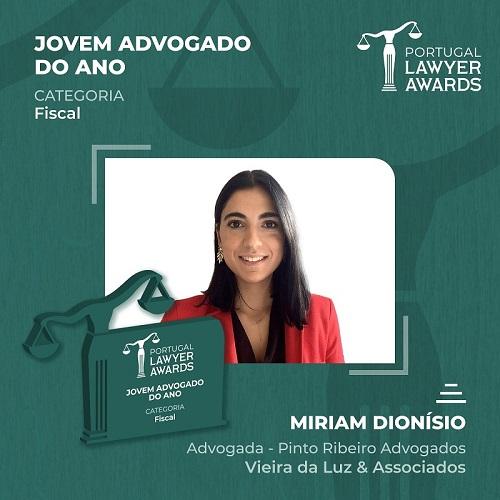 portugal lawyer awards miriam campos dionísio
